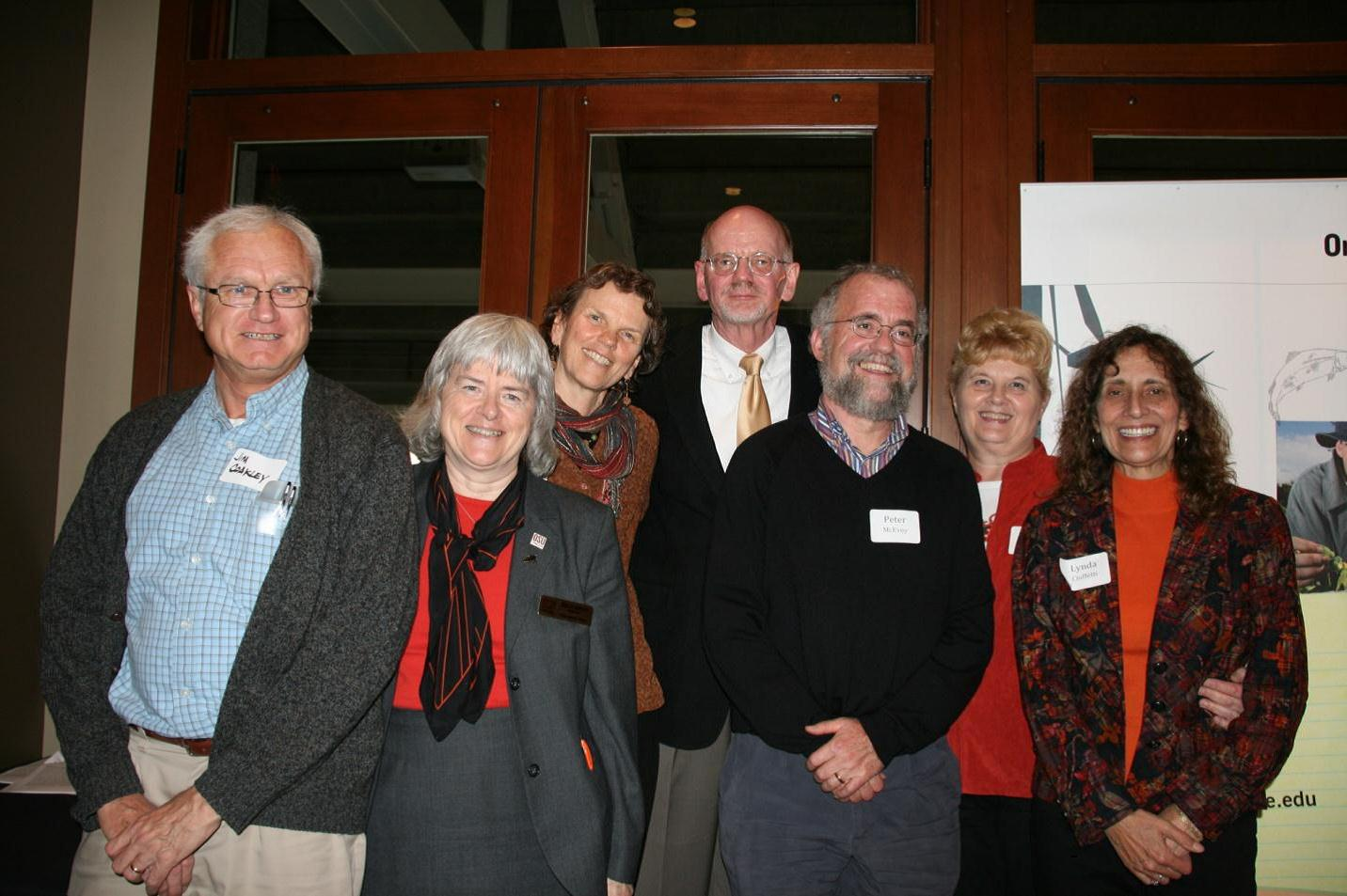 left to right Jim and Stella Coakley, Liz and Hiram Larew, Peter McEvoy, Dianne Simpson, Lynda Ciuffett