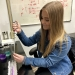 Jasmine Brandes doing lab work
